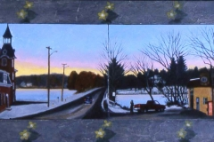 26.Linwood-Ave.and-Daisies-oil-on-board-21x50-2002
